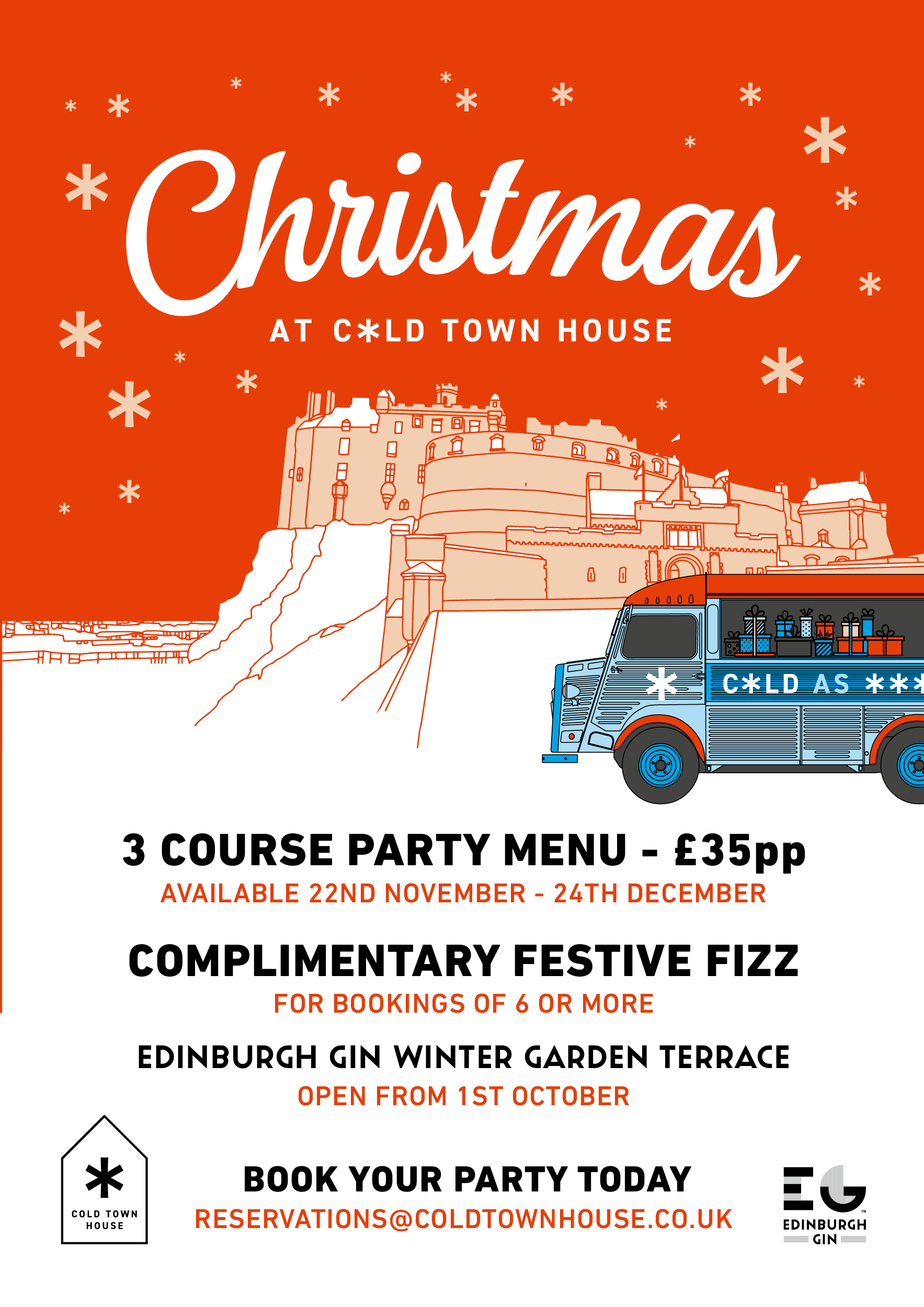 Cold Town House Christmas Menu Book Here